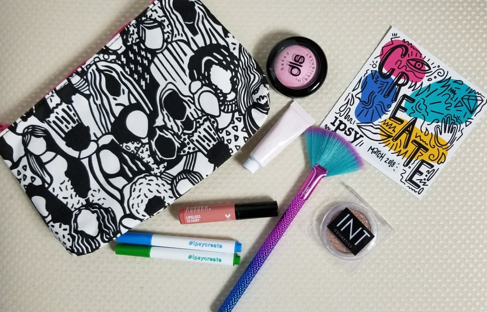 Ipsy, makeup, subscription boxes, fashion, blogger, highlighter, eyeshadow, lipgloss, cosmetics, face makeup, latina