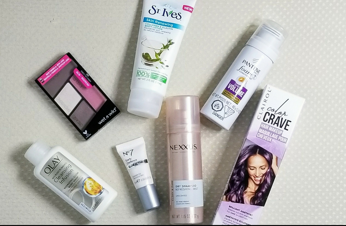 makeup, beauty, haul, pantene,clairol,olay,
